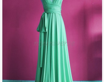 Bridesmaid dress pastel green wedding dress wrap convertible dress