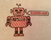 Hi Robot! Blackwork Cross Stitch Pattern