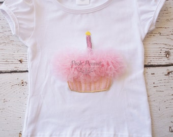 Pink Cupcake birthday shirt- Girls Birthday top- cupcake shirt - 1st birthday top  - Cupcake shirt - Baby Birthday shirt- baby - Birthday