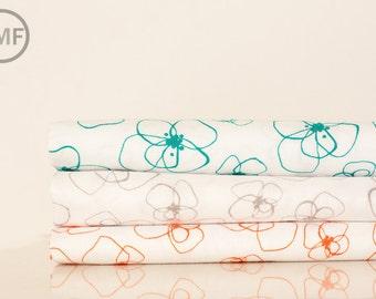 Fat Quarter Bundle Mormor Little Blomster, 3 Pieces, Lotta Jansdotter, Windham Fabrics, 100% Cotton Fabric, 37120