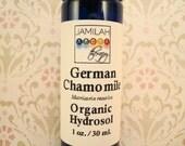 Organic German Chamomile Travel Hydrosol, Soothing Skin Care Spray - Irritated Skin, Teething, Organic Hydrosol, Easy Carry, 1 oz./30 ml.