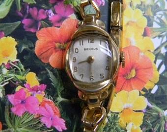 WATCH, Vintage 10K RGP Ladies Benrus Watch