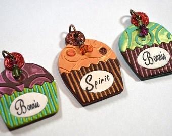 Cupcake Custom Pet I.D. Tag / Dog Tag