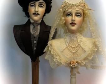 Victorian Wedding couple