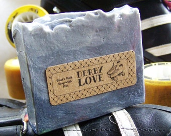 DERBY LOVE Goat's Milk Soap with silk roller derby