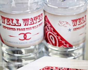 Western - Cowboy- Cowgirl Water Bottle Labels