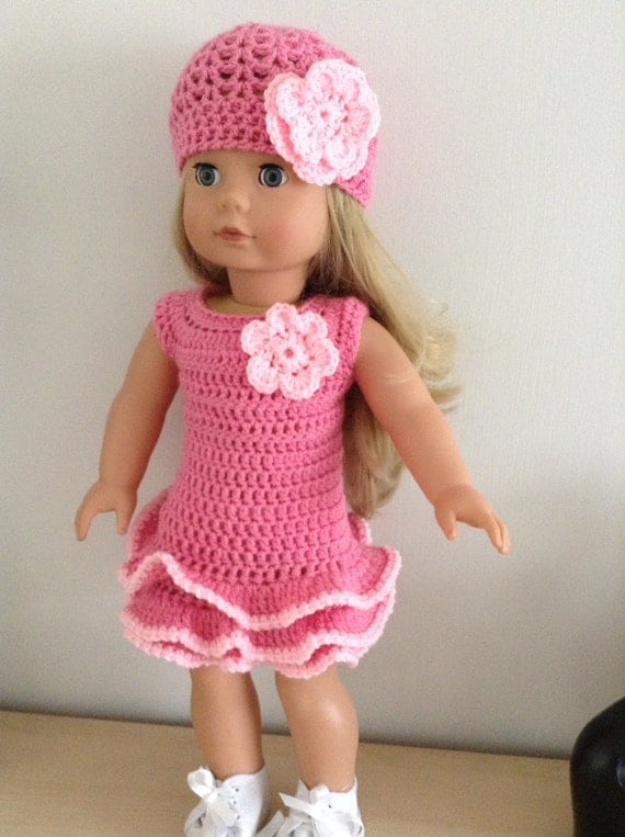 Crochet Dress Up Doll Pattern : PDF Crochet pattern for 18 inch doll American Girl Doll or
