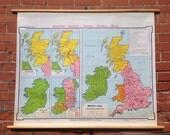 British Isles Vintage Wall Map
