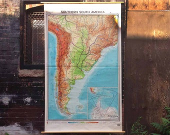 Southern South America Vintage Wall Map