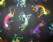 Kokopelli Navajo Indian Neon Cotton Fabric Fat Quarter or Custom Listing