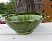 Vintage Avocado Florence Ceramics Company Bowl