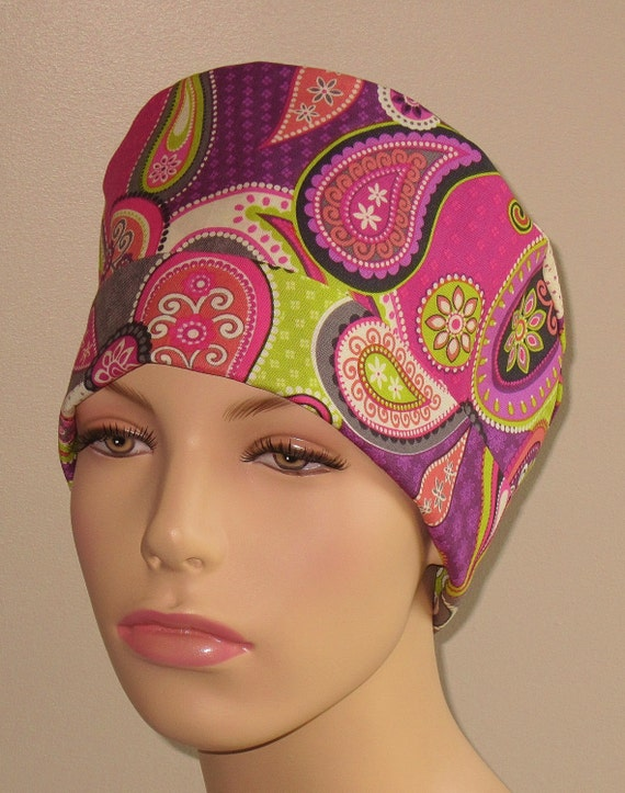 scrub hat unique paisley by thesewingscrub on etsy
