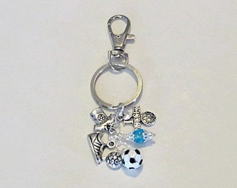 Soccer Keychains | Bag Charm | Purse Charm | Soccer Gifts | Soccer Coach Gifts | Key Chains