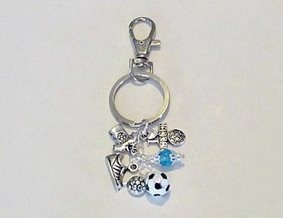 soccer keychain coach soccer bag charm purse by