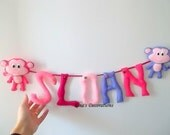 SLOAN Personalized Banner with 2 monkeys