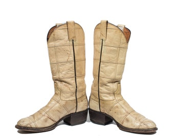 8 | Men's Vintage Cowboy Boots Renegade Patchwork Leather Western Boot