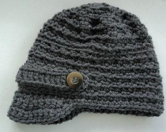 Baby Boy Hat, Newsboy Hat, Crochet Hat, Handmade Hat