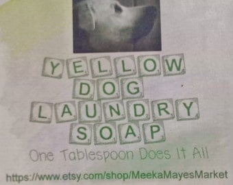 Homemade Soap Laundry Powder Refill Yellow Dog Detergent Low Suds