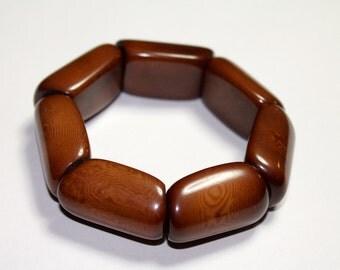 Brown Tagua Bracelet/ Boho/ Bohemian/ Folk