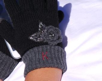 Winter Gift For Women, Monogram Smart Tip Gloves, Monogrammed Gifts, GIFT WRAPPED