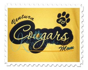 Cougars Applique Script