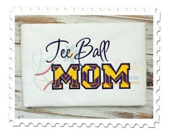 Tee Ball MOM 5 Applique