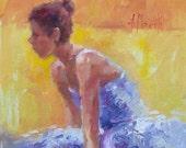 Original Oil Painting of Ballerina on 11x14 canvas board