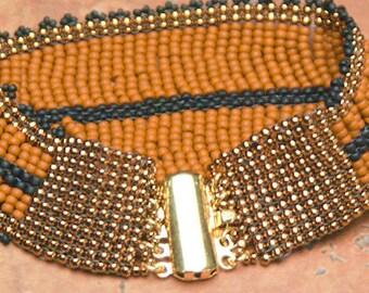 BRACELET Gift for Her Valentine's Gift Beaded Bracelet Burnt Orange Bracelet - Southwest Western Cowgirl - srajd Teal Eve's