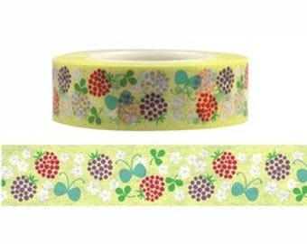 Berry & Flower Washi Masking Tape (15M)