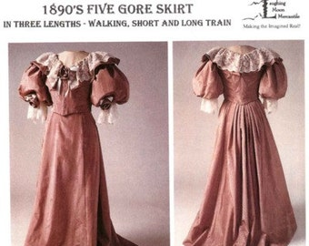 LM101 - Laughing Moon #101, 1890's Five Gore Skirt Sewing Pattern