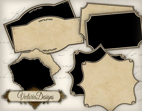 Blank Apothecary Potion Bottle Labels Tags Printable Paper
