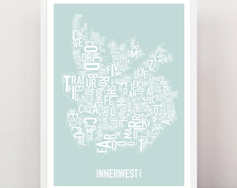 Sydney - INNER WEST Type Print
