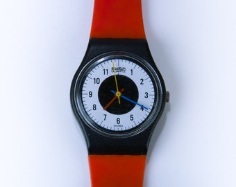 Vintage Swatch Watch 1984 Chrono-Tech Swatch Rare Red