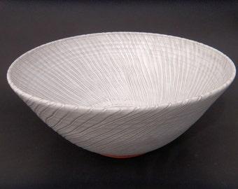 Large Serving Bowl - Handmade White Glazed Terracotta