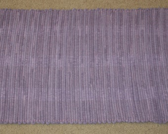 Handwoven Rag Rug - Lavender / Dusty Purple Terrycloth  - 41 inches....(#41)