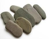 Raw Flat Pebbles -  Undrilled Beach Stones