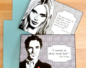 Project Runway Note Cards