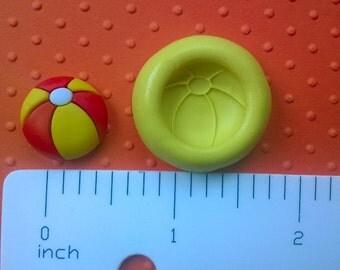 BEACH BALL mold flexible mold heat safe food safe mold for fondant ...