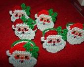 Set of 6 Santa Napkin Rings