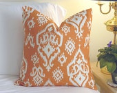 Decorative Pillow Cover Cushions - Raji Apache Orange - 18 x 18 Accent Cushion