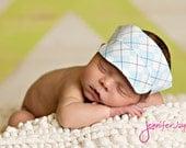 Blue Argyle Golf Hat Visor  Newborn Photography Prop Ready To Ship