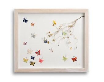 Butterfly Garden 3D Collage