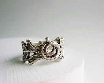 Silver Lace Ring -style 13