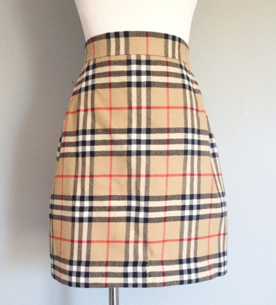 Authentic Burberry Plaid Skirt