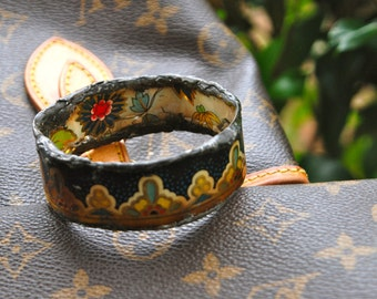 SMALL tin silver bearing solder bangle one of a kind