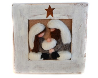 Nativity - Christmas Nativity - Felted Nativity