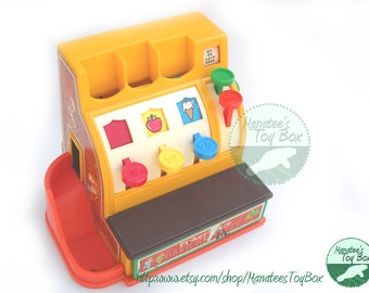 CLEARANCE Vintage Fisher Price Cash Register Toy 926