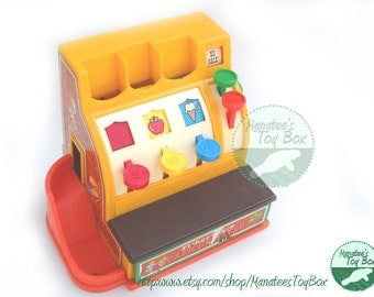 Vintage Fisher Price Cash Register Toy 926