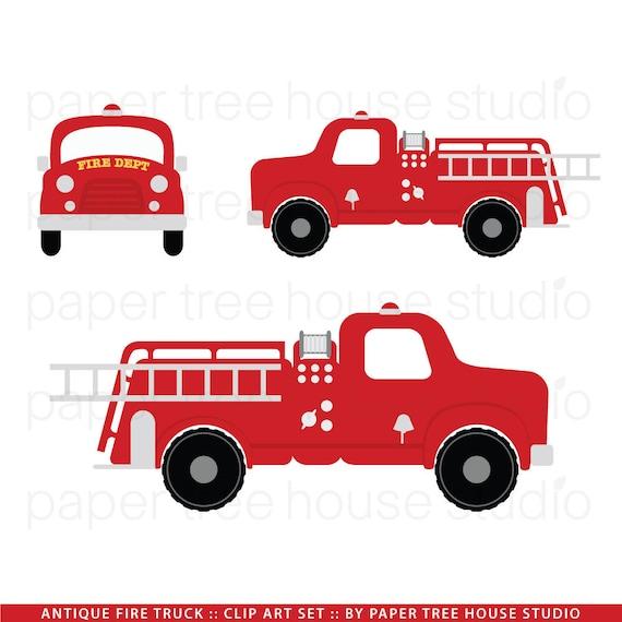Fire Truck Clip Art Fire Station Clip Art Vintage Fire
