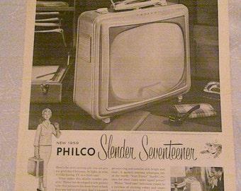 1958 Philco Television Ad